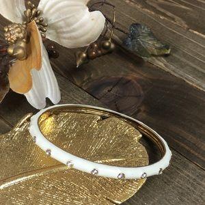NWOT J. CREW Gold & Rhinestone Bangle Bracelet